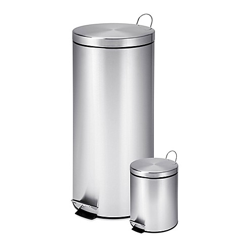 buy honey can do 30 liter and 3 liter stainless steel trash can combo from bed bath beyond. Black Bedroom Furniture Sets. Home Design Ideas