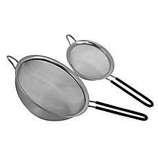 image of Oneida Mesh Stainless Steel Strainers with Long Handles (Set of 2)