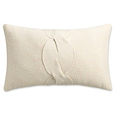 image of Isaac Mizrahi Home Addie Knit Oblong Throw Pillow in Ivory