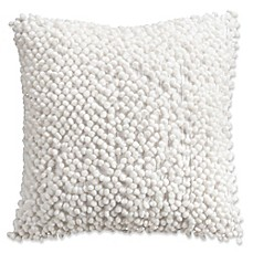 image of Isaac Mizrahi Home Whitby Square Throw Pillow in White
