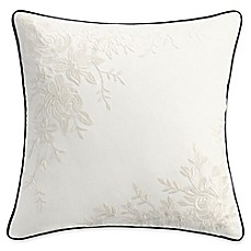 image of Isaac Mizrahi Home Lilla Square Throw Pillow in Ivory