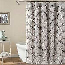 Image of Lush Decor 72 Inch x 72 Inch Ruffle Diamond Shower CurtainShower Curtains   Shower Curtain Tracks   Bed Bath   Beyond. Black And Cream Shower Curtain. Home Design Ideas