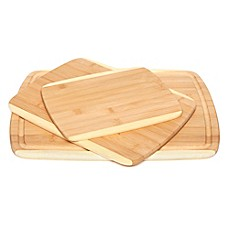 image of Core Bamboo 3-Piece Cutting Board Set