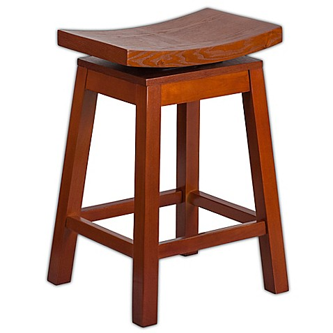 Flash Furniture Saddle Seat 26 Inch Counter Stool In Light