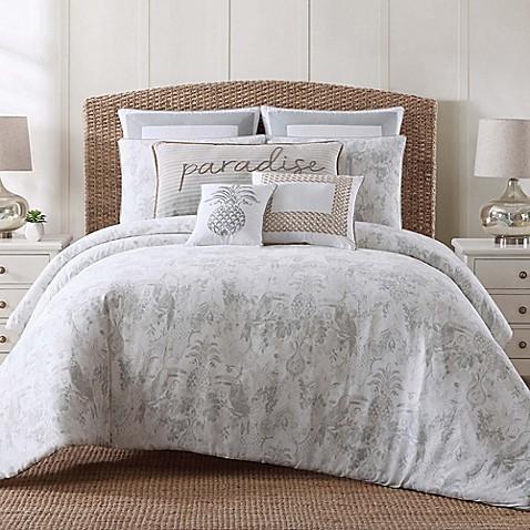 Tropical plantation toile comforter set bed bath beyond - Bed bath and beyond palm beach gardens ...