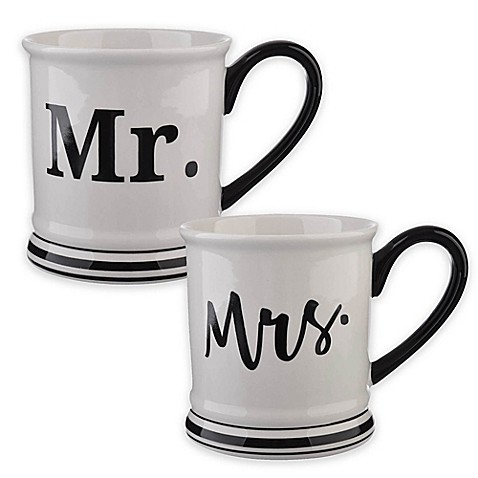 Buy Formations Mr Mrs Mug Collection In Black White At Bed Bath