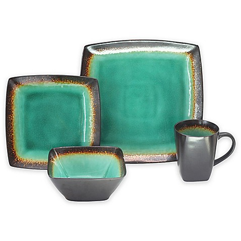 Baum Zen 16-Piece Dinnerware Set in Jade - Bed Bath & Beyond
