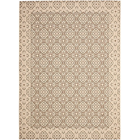 Buy safavieh courtyard 8 foot x 11 foot aleah indoor outdoor rug in brown creme from bed bath - Tips to consider when buying an outdoor rug ...