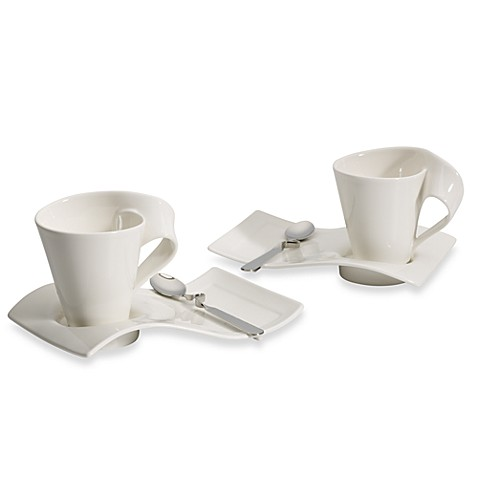 Wave Villeroy Und Boch villeroy boch wave cafe set service for two bed bath beyond