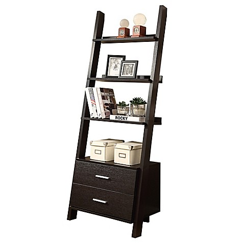 Charmant Monarch Specialties Ladder Bookcase With Storage Drawers