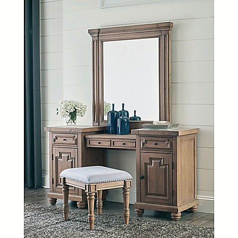 Donny Osmond Florence Vanity Desk In Smoke Bed Bath Amp Beyond