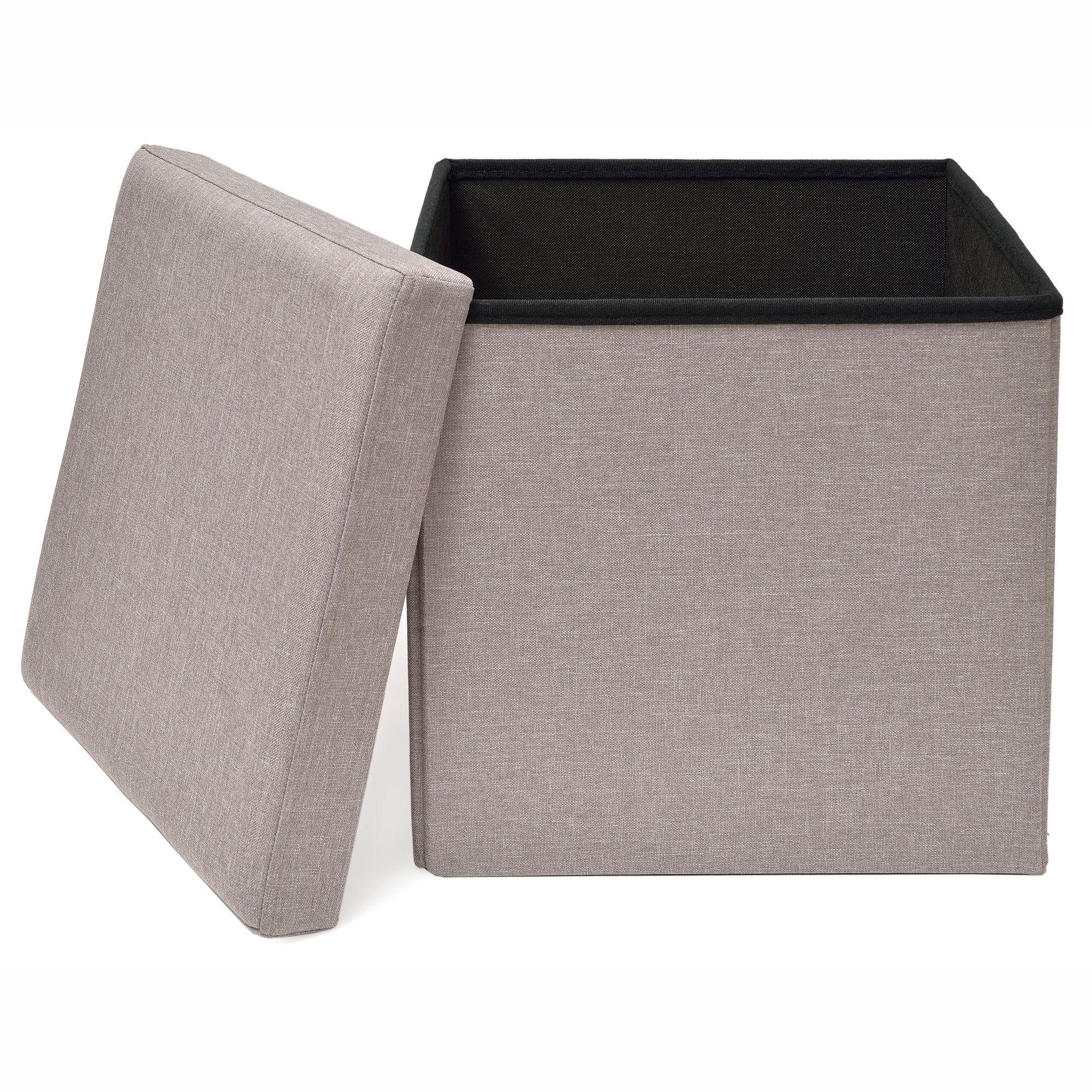 Studio 3B™ Folding Storage Ottoman with Tray