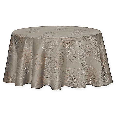 Buy Waterford Linens Timber 90 Inch Round Tablecloth In