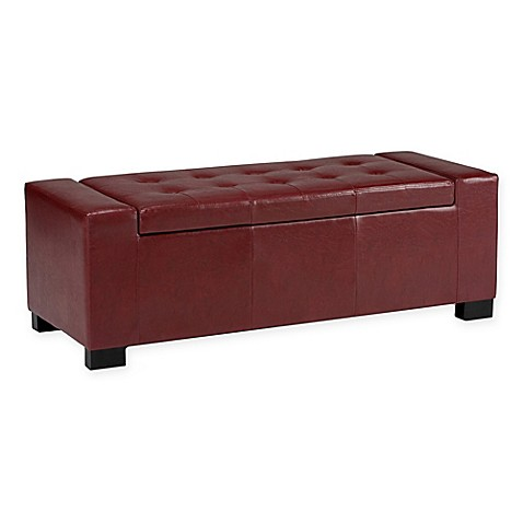 Laredo Faux Leather Storage Bench Bed Bath Beyond