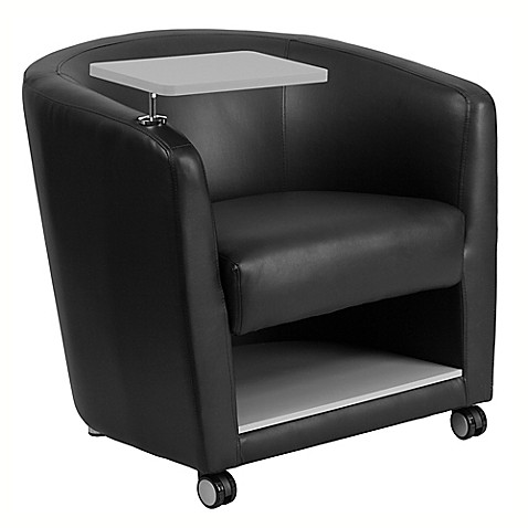Flash Furniture Bonded Leather Guest Chair In Black