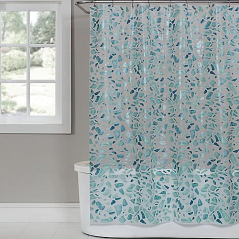 Saturday Knight Sea Glass Peva Shower Curtain Bed Bath