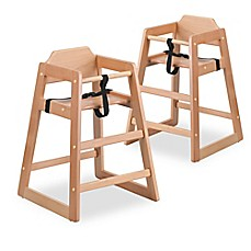 image of flash furniture baby high chairs in natural set of 2