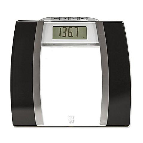 weight watchers®conair™ glass body analysis bathroom scale