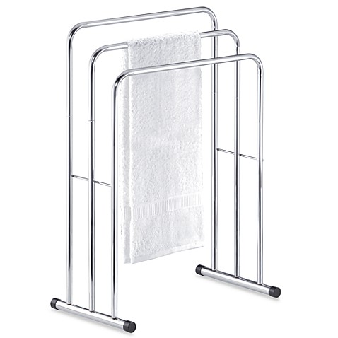 Three Tier Free Standing Towel Stand Valet Bed Bath Amp Beyond