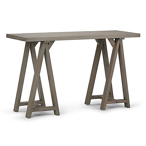 Buy simpli home sawhorse 50 inch console sofa table in for Sofa table 50 inches