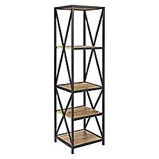 image of Forest Gate Tall X-Frame Media Bookcase