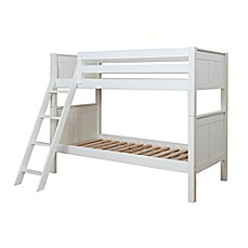 image of classic twoovertwin combo bunk bed in white