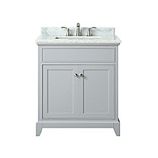 image of azzuri aurora 31 inch single vanity in light greywhite - Bathroom Cabinets Bed Bath And Beyond