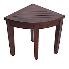 image of oasis teakwood shower bench and shelf collection