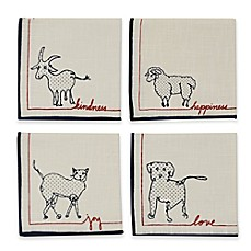 image of ED Ellen DeGeneres Animal Collection Cocktail Napkins (Set of 4)