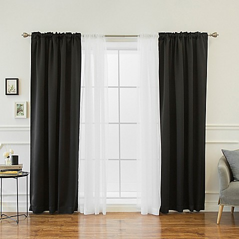 Decorinnovation mix match voile 84 inch blackout window for Mix and match curtains colors