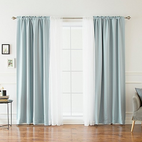 Buy decorinnovation mix match voile 84 inch blackout for Mix and match curtains colors