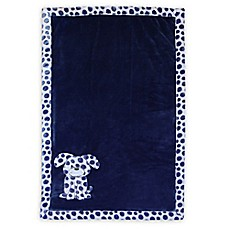 image of Baby's First by Nemcor Plush Dog Blanket in Blue