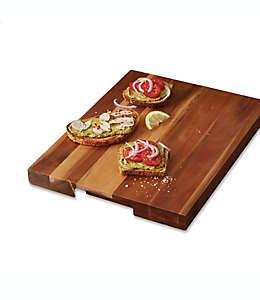 Tabla para picar de madera de acacia, Artisanal Kitchen Supply® 45.72 x 35.56 cm