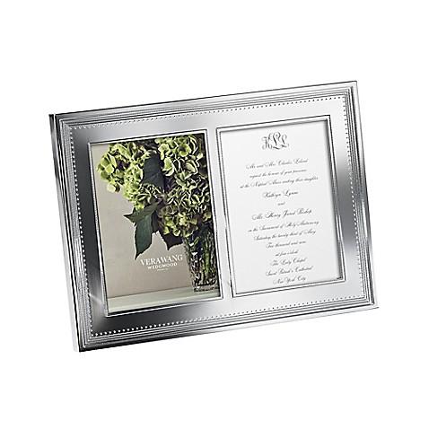 Vera Wang Wedgwood® Grosgrain Double 5-Inch x 7-Inch Metal Frame ...