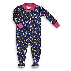 image of Rosie Pope® Moon and Stars Snug-Fit Pajama in Navy