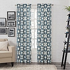 Blue Window Curtains Amp Drapes 84 Quot Pattern Bed Bath