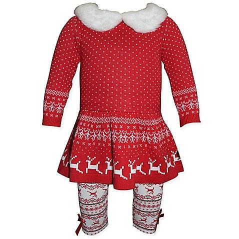 Blueberi Boulevard Holiday Reindeer 2 Piece Sweater Dress