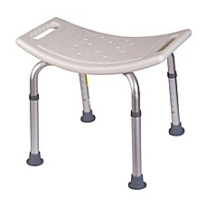 Image Of HealthSmart Compact Bath And Shower Stool In White