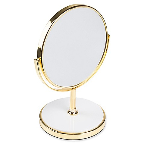 Buy kate spade new york pin dot vanity mirror in gold from for Mirror spades