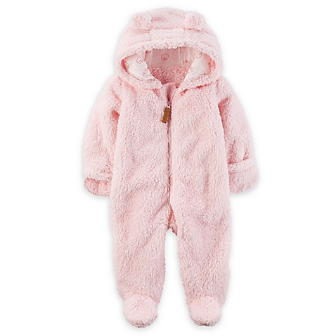 carter's® Hooded Sherpa Bunting in Pink - Bed Bath & Beyond