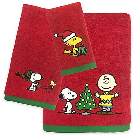 Peanuts Holiday Towel Collection Bed Bath Beyond