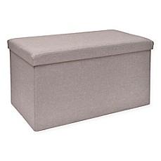 Studio 3B™ Folding Storage Ottoman with Tray  sc 1 st  Bed Bath u0026 Beyond & Storage Benches Ottomans u0026 Cubes Pouf | Bed Bath u0026 Beyond