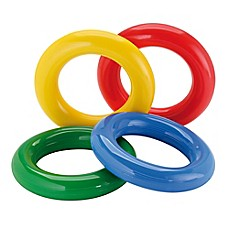 image of Gymnic® Gym Rings in Multi (Set of 4)