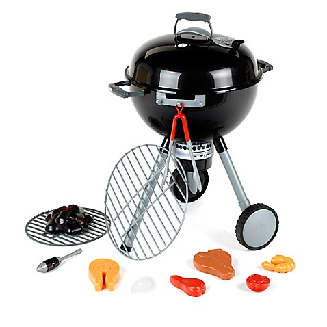 theo klein 21 inch weber play grill in black grey bed bath beyond. Black Bedroom Furniture Sets. Home Design Ideas