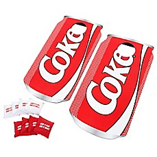 image of Hey! Play! Coca-Cola Cornhole Bean Bag Toss Game