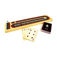 image of Front Porch Classics Solid Wood Cribbage Game