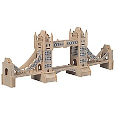image of Puzzled London Tower 104-Piece 3D Wooden Puzzle