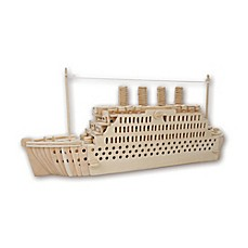 image of Puzzled Titanic 178-Piece 3D Wooden Puzzle