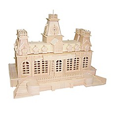 image of Puzzled Train Station 356-Piece 3D Wooden Puzzle