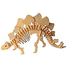 image of Puzzled Stegosaurus 51-Piece 3D Wooden Puzzle